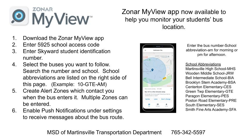 directions to download the bus app. black text on white background